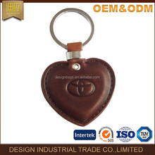 Heart sharp car leather key chain holder car smart key chain