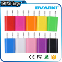 Safety Charging 5V 1A USB Wall Chargers For iPhone Android , AC Power Adapter For Smartphone Cell Phone