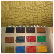2013 soft 100% PU crocodile synthetic leather A1306
