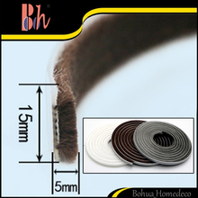 Self Adhesive Sealing Weather Brush Strip Home Doors Windows Seal Tape Pile Draught Excluder Weatherstripping size 15x5mm