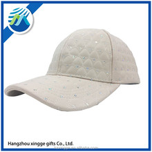 Fashionable Fake Leather Baseball Cap 6 Panels Solid Adjustable Hat