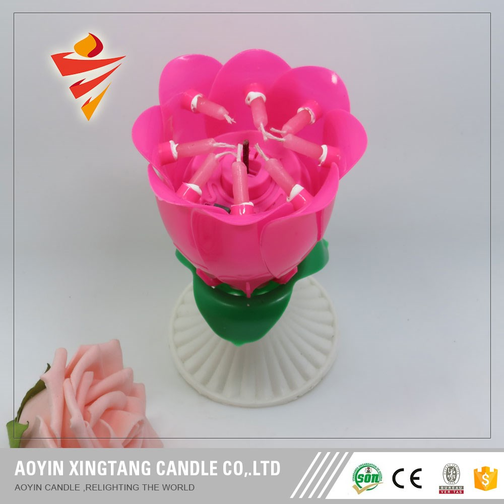 christmas opening flower fanncy birthday candle for decoration