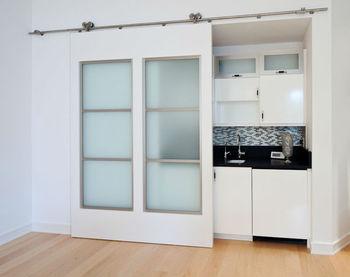 Kitchen sliding doors interior room divider for for Interior sliding glass doors residential