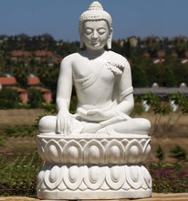 Life size garden white marble stone sculpture granite buddha statue for sale