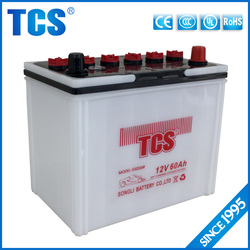 12v 60ah dry cell car battery 55D26R battery rechargeable panasonic car battery
