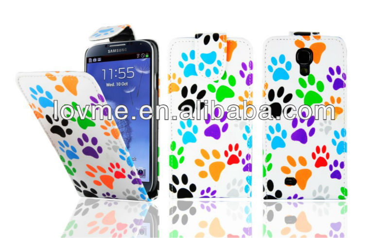 For SAMSUNG Galaxy S4 i9500 Multi Dog Cat Foot Flip Leather Case