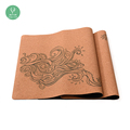 Procircle eco-friendly luxury custom print natural rubber yoga mat