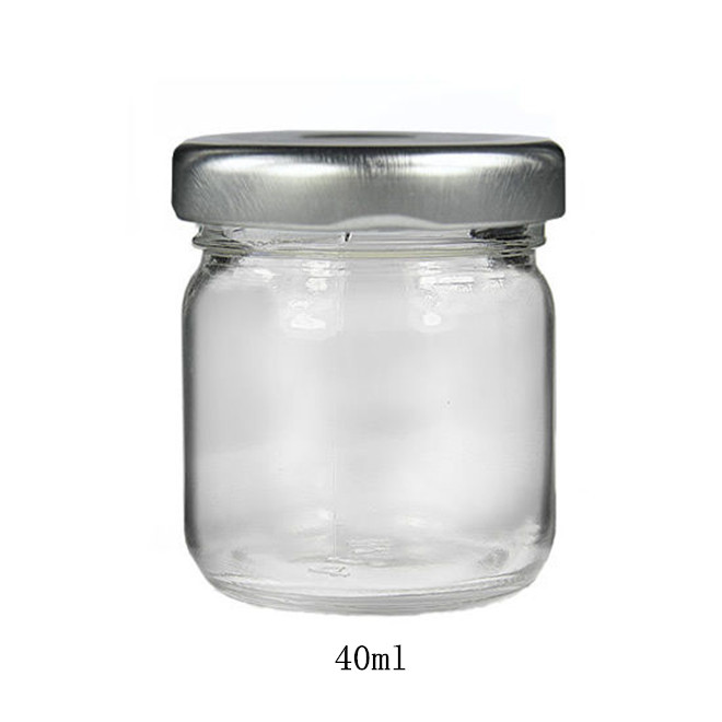 1.5oz 30ml 40ml round small wedding honey nut mini jam glass jar in China