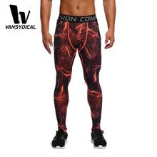Sublimation Printing Men Fitness Pants Autumn Thermal Men's Running Leggings Compression Tights Wholesale