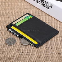 Custom Real leather credit card holder with 6 card slot