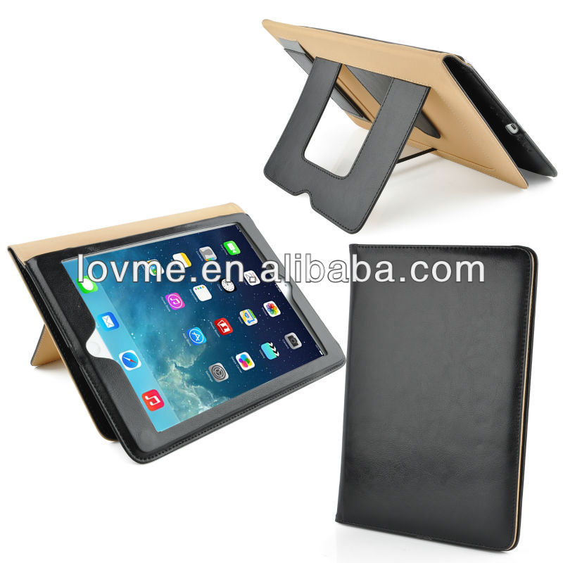 Stylish Real Leather Stand Case Smart Cover for The New iPad Air