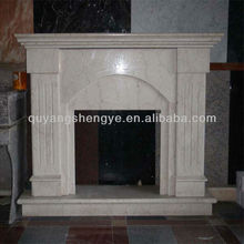 Free Standing Wood Burning Marble fireplace Mantel Sculpture