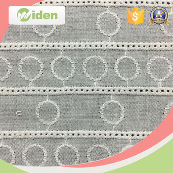Wholesale 135CM Cotton Embroidery Lace Fabric