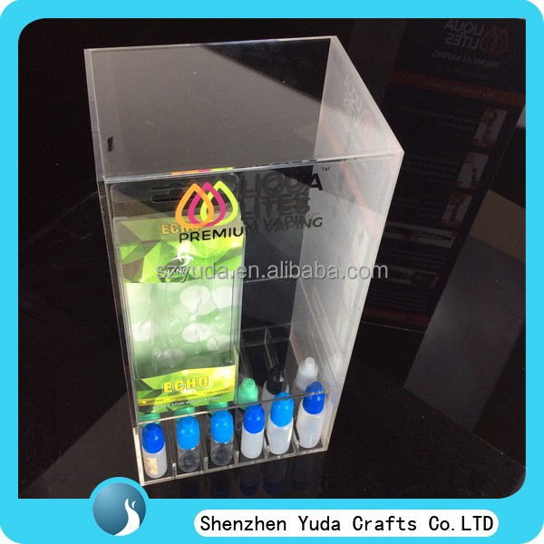 top quality sold-out type perspex e-juice holder factory in china display cabinet for e-cigs juice liquid cheap price box stand