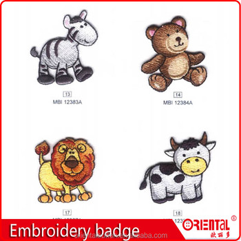 high quality custom kids embroidered patches for kids