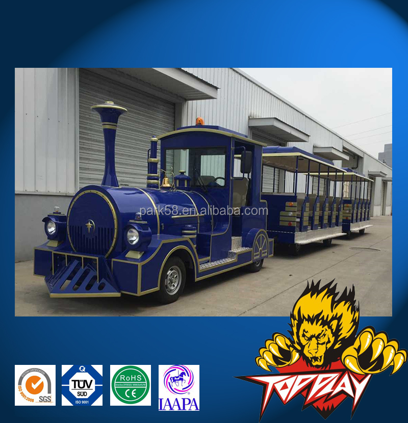 Diesel & Electric trackless tourist road train Professional manufacturer
