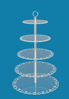 new developed detachable 5, 6, 7, 8 tiers circle 5mm thickness acrylic fairy cake party cupcake display stand with a handle