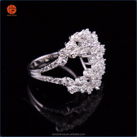 925 Italian Silver Wedding Rings for Women Latest Designs Ring Wholesale Jewelry Set Vendors