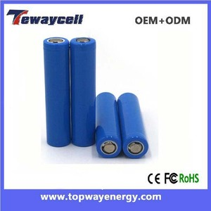 Manufacturer Cylinder rechargeable ICR14650 1000mah 3.7v li-ion battery