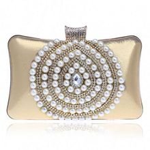Hot sale wedding party top layer leather women clutch bag