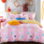 China 100% polyester microfiber disperse bed sheet set