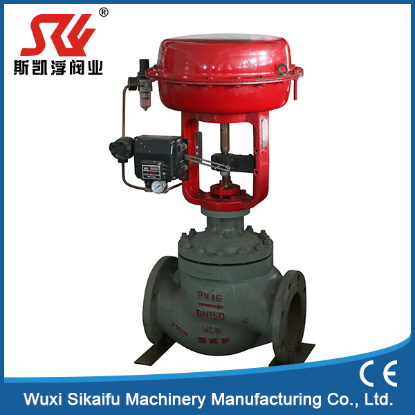 oil factory pneumatic angle seat regulating valve with intelligent positioner water treatment