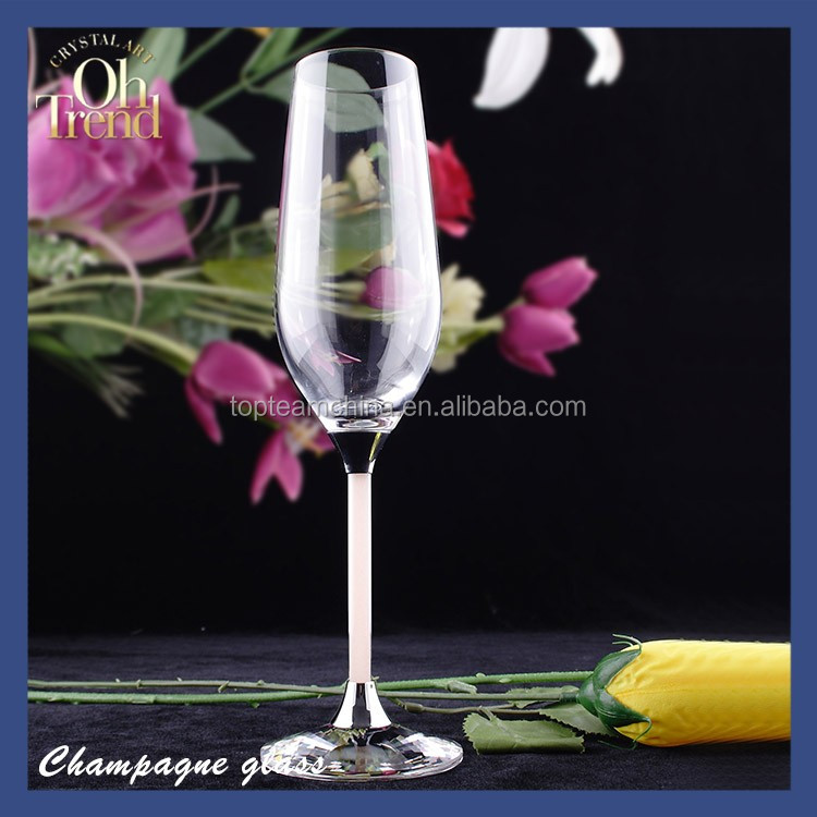 High quality China Factory Clear Champagne Flute <strong>Glass</strong> Wine <strong>Glass</strong> for Wedding
