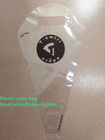 plastic cone bag for crepe packing