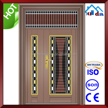 QD-SS056 Entrance Anti- theft Villa Main Stainless Steel Safety Soor