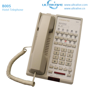 hotel phone for hotel rooms with non-display hands-free message lights and 15 groups of shortcut PTT keys