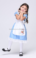 GIRLS KIDS Children blue alice in wonderland FANCY DRESS COSTUME OUTFIT
