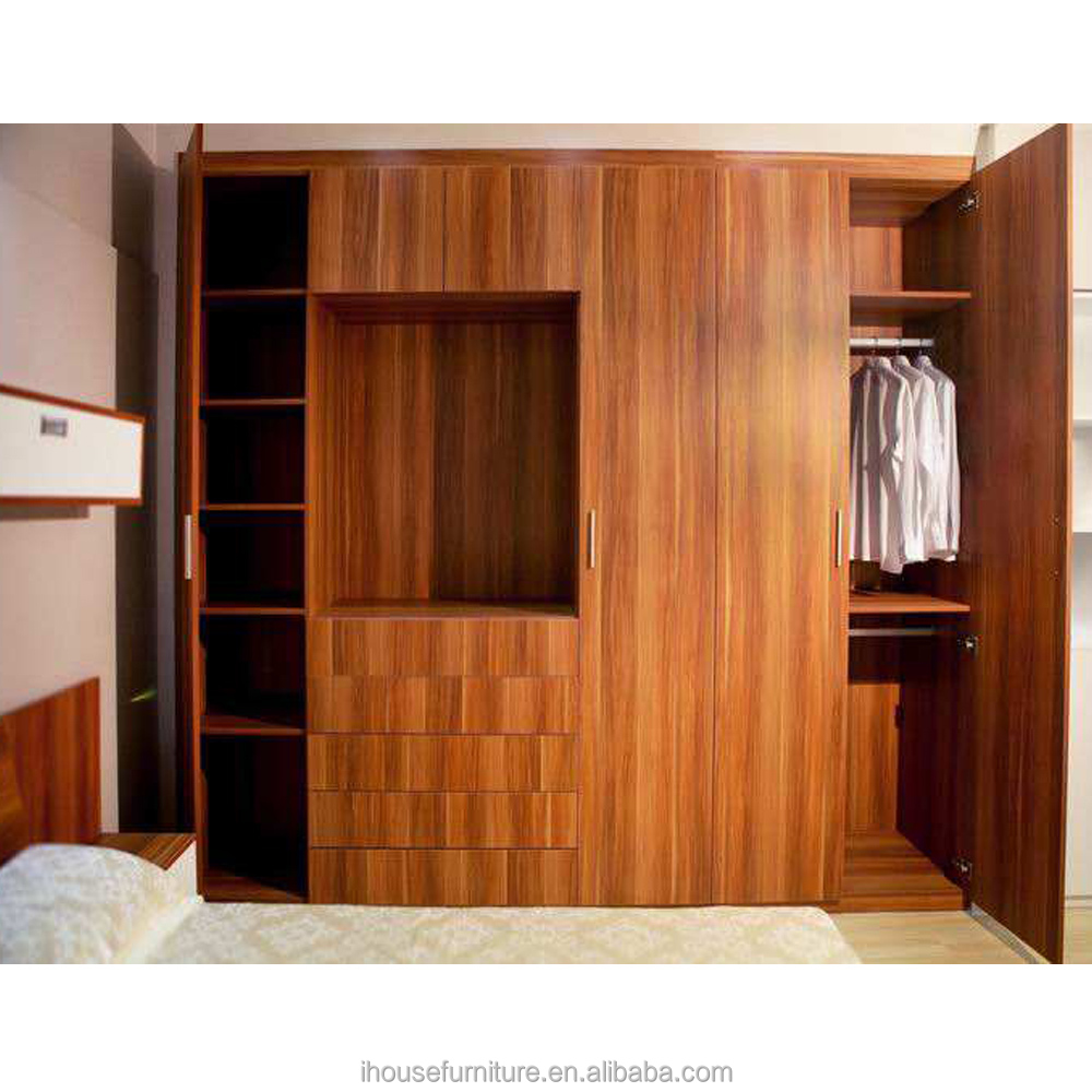Chinese New Model Solid Wooden Wardrobe Closets Cabinet Furniture Almirah Designs/Wooden Closets Cabinet/Wardrobe Designs