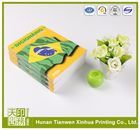 Full color Soft Cover Art Paper perfect binding landscape book printing