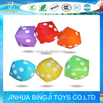 pvc inflatable dice inflatable cube toy