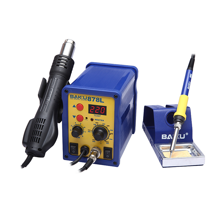 2016 BAKU new product hot sale BK-878L LED digital display mobile rework soldering station SMD bga Rework Station