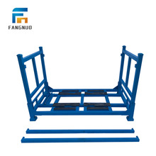 1000x800x1250 warehouse stacking iron folding rack steel post pallet
