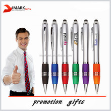 2 in 1 ball pen with stylus custom logo printed screen touch pen
