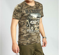 Camo 100%cotton T-shirt/Tactical T-shirt/ Combat T-shirt