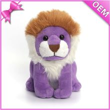 New animal crossing plush toys purple lovely lion stuffed toys