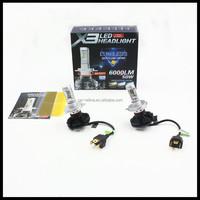 X3 LED headlight H4 9004 9007 H13 50W 12000lm H4 X3 LED headlight car auto LED headlight bulb