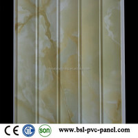 30cm 8mm 5 wave marble pvc wall panel for India