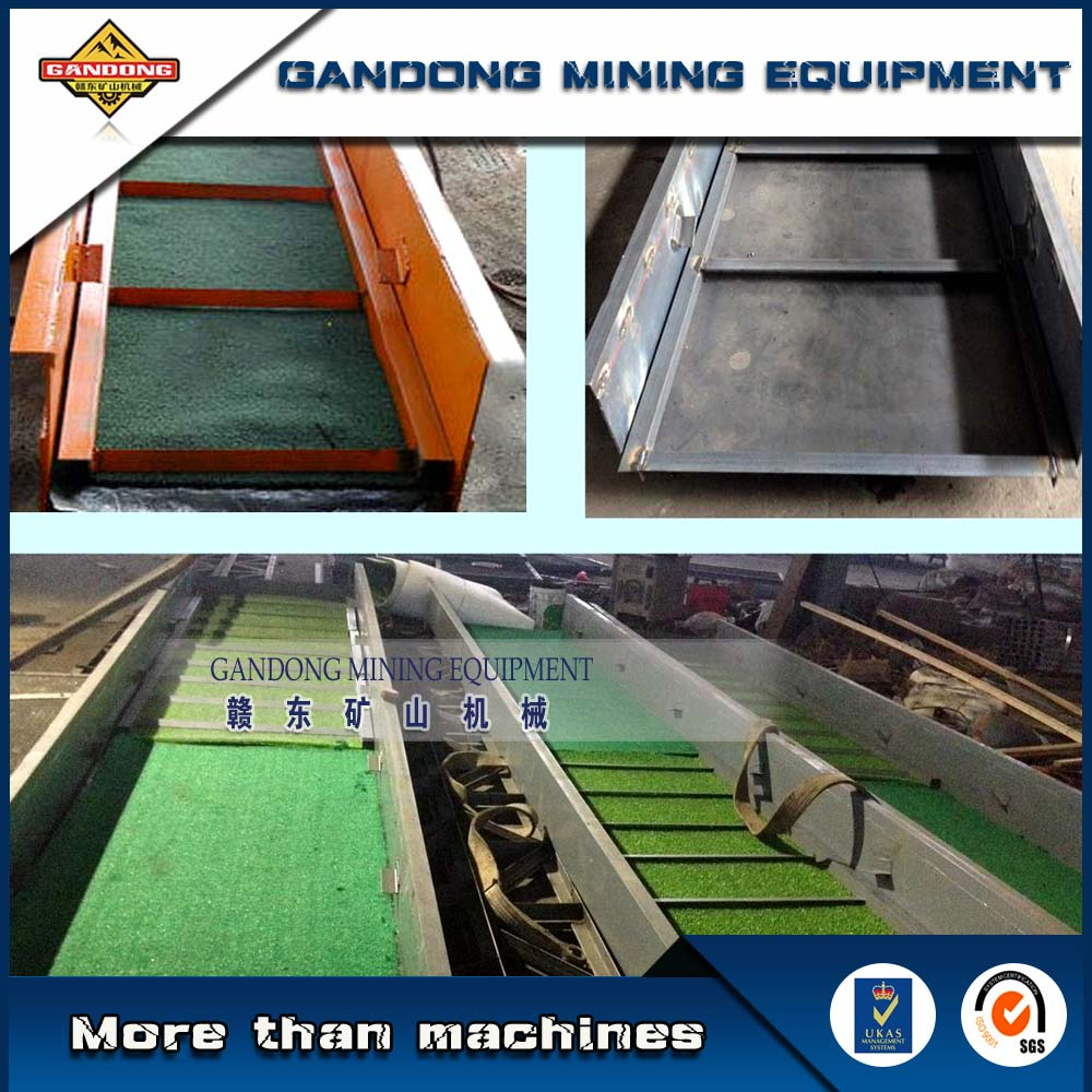High efficiency gold mining dredge boat machine sluice box for sale