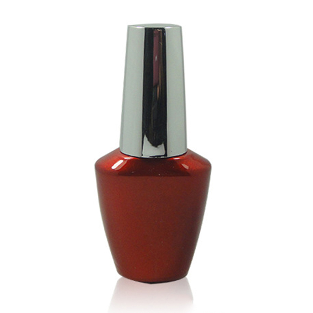 Best Quality Wine Red Glass Nail Gel Polish Bottle with Brush