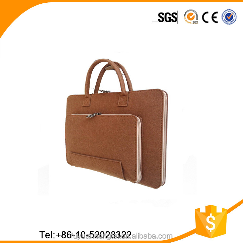 Good quality and low price felt laptop bag from China golden manufacturer of felt bags
