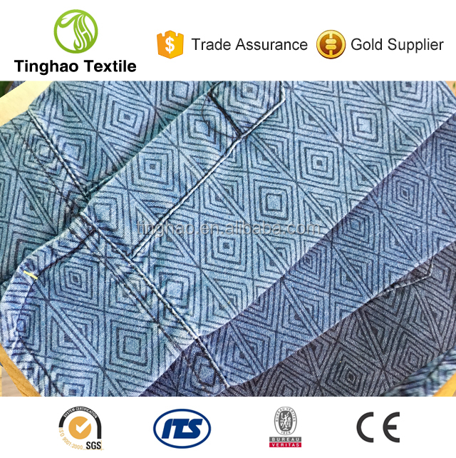 Indigo Cotton Fabric Printed Twill Consruction
