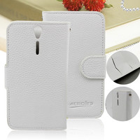 Hot!!!! leather flip case cover for sony xperia s lt26i