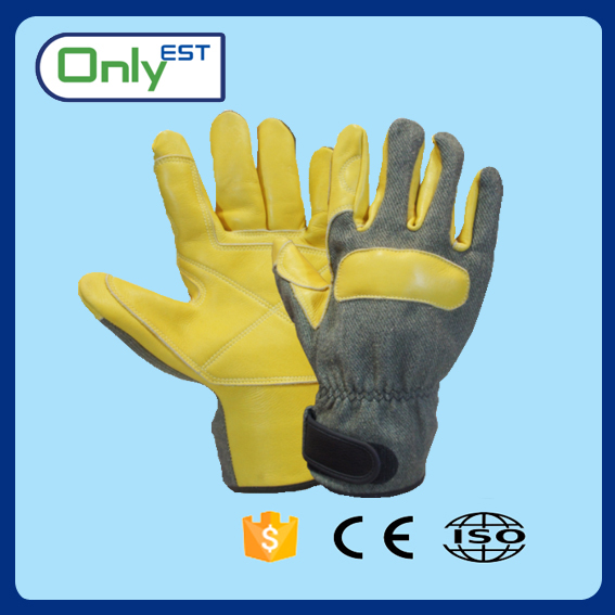 Thickness split leather welding gloves thinsulate yellow leather work gloves