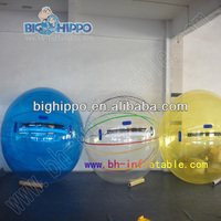 china cheap clear color bar inflatable water walking balls inflatable bubble rolling balls for pool and lake
