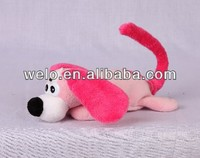 Animated rolling and laughing cute mini dog, light control stuffed animal plush toy