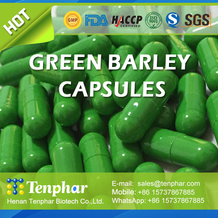 Health Food Supplement Barley Grass Soft Capsule